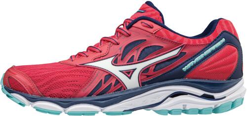 Mizuno Wave Inspire 14 Running Shoes Women teaberry/white/blue depths UK 5,5